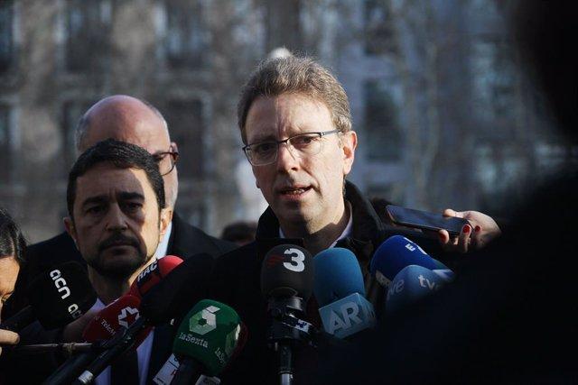 Ferran Bel en declaracions als mitjans en una imatge d'arxiu.