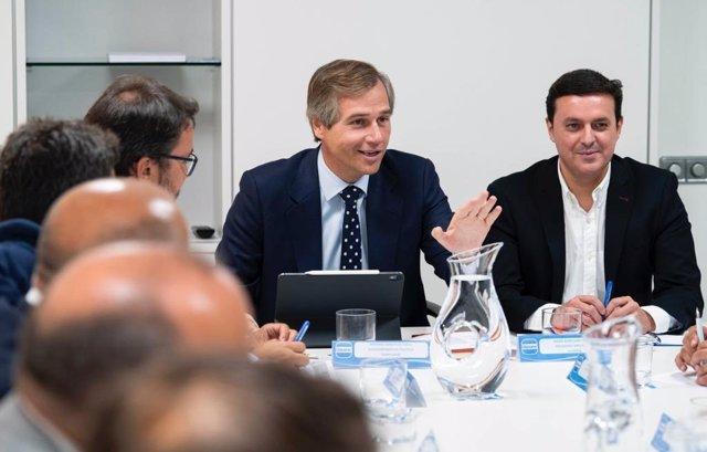 El vicesecretario de Política Terroritorial del PP, Antonio González Terol, en una reunión en su partido.