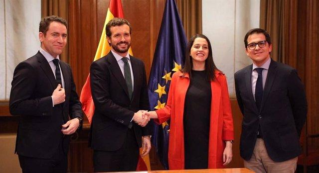 AV.- 'Génova' se impone al PP vasco y firmará esta tarde el acuerdo con Cs para