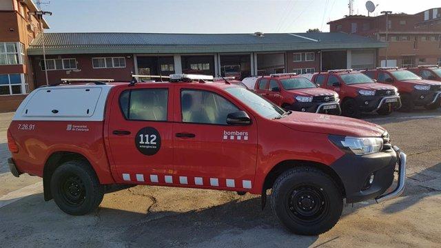 Vehicle tot terreny de prevenció d'incendis dels Equips de Prevenció Activa Forestal (EPAF) dels Bombers de la Generalitat, presentat el 21 de febrer deL 2020.