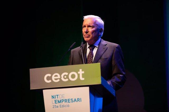 El presidente de Cecot, Antoni Abad, en La Nit de l'Empresari de Cecot en el TNC (archivo)