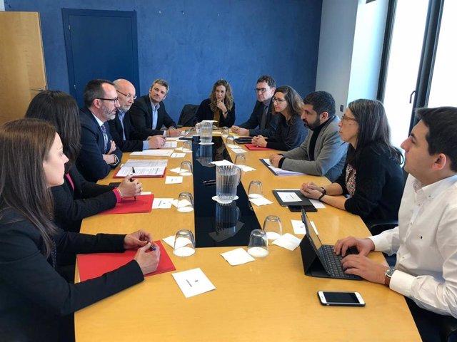 La reunió entre la delegació andorrana liderada pel ministre Víctor Filloy i la delegació de la Generalitat de Catalunya encapçalada pel conseller El Homrani.