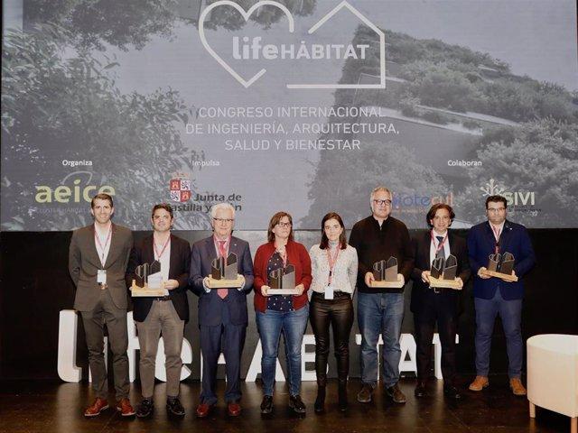 Foto de los galardonados con premios Life Habitat.