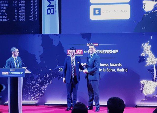 Cosentino recibe el reconocimiento de la Embajada británica en España