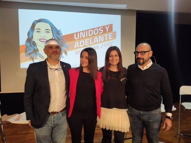 Carlos Carrizosa, Inés Arrimadas, Lorena Roldán y Jordi Cañas