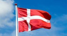 Imagen de una bandera de Dinamarca.