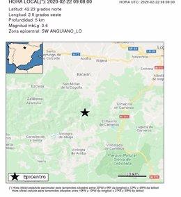Movimiento sísmico en la zona de Anguiano
