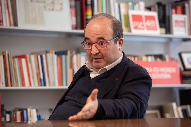 Foto de archivo del primer secretario del PSC, Miquel Iceta