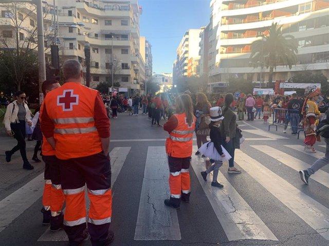 Dispositivo de Cruz Roja en el Carnaval de Badajoz