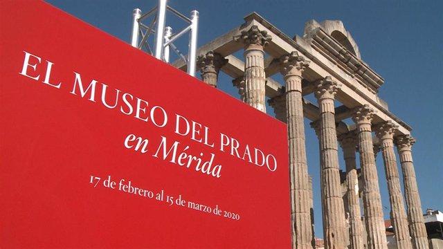 Exposición 'El Prado en las calles' junto al Templo de Diana de Mérida
