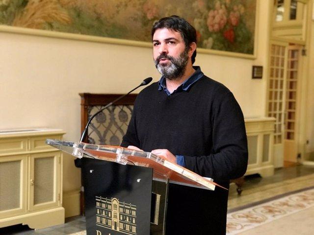 El portavoz de MÉS per Mallorca, Josep Ferrà.