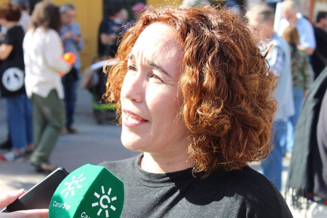 La portavoz de Memoria de Adelante Andalucía, Ana Naranjo.