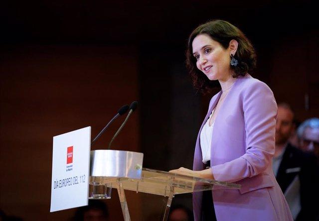 Imagen recurso de la presidenta de la Comunidad de Madrid, Isabel Díaz Ayuso