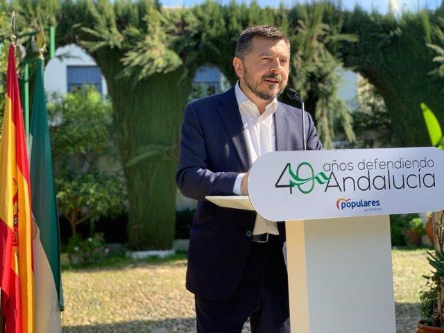 El vicesecretario general del PP-A, Toni Martín, este sábado