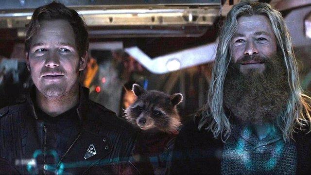 Thor y Star Lord en Vengadores: Endgame