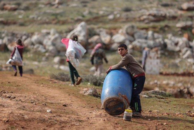 Desplazados de Idlib