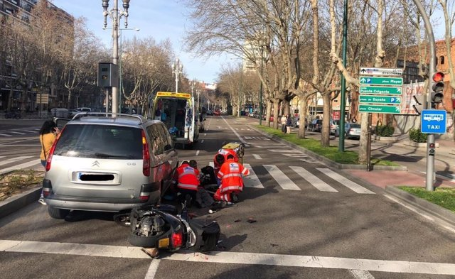 Accidente en el Paseo Zorrilla.