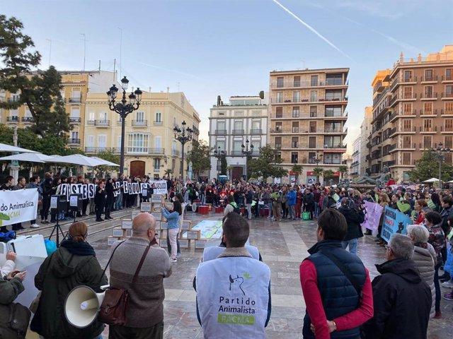 Concentración de PACMA en València