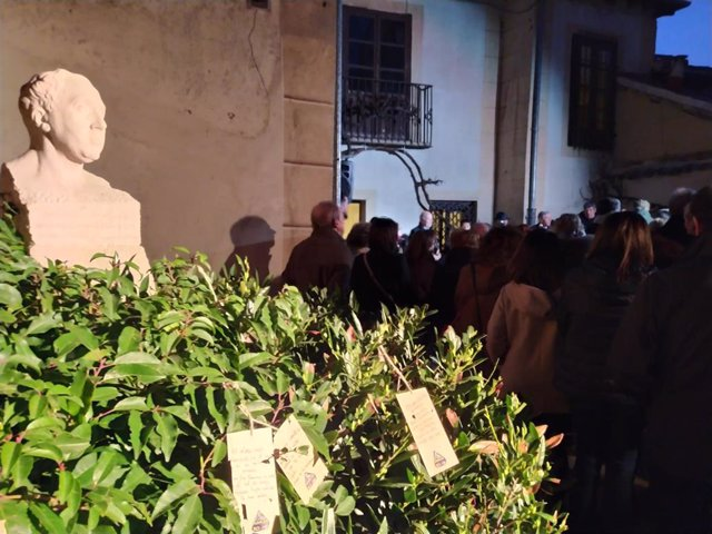 Casa-Museo durante el homenaje.
