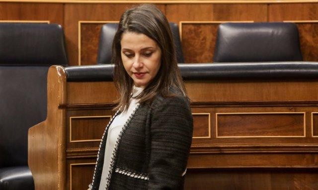 Inés Arrimadas en el Congreso de los Diputados