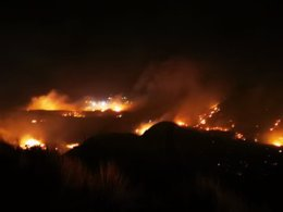 Incendio de Tasarte en Gran Canaria