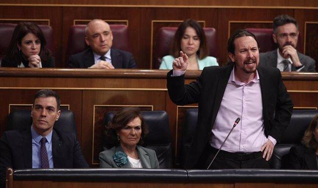 El vicepresidente del Gobierno de Derechos Sociales y Agenda 2030, Pablo Iglesias, responde a las preguntas sobre abusos a menores en Centros Tutelados de Baleares
