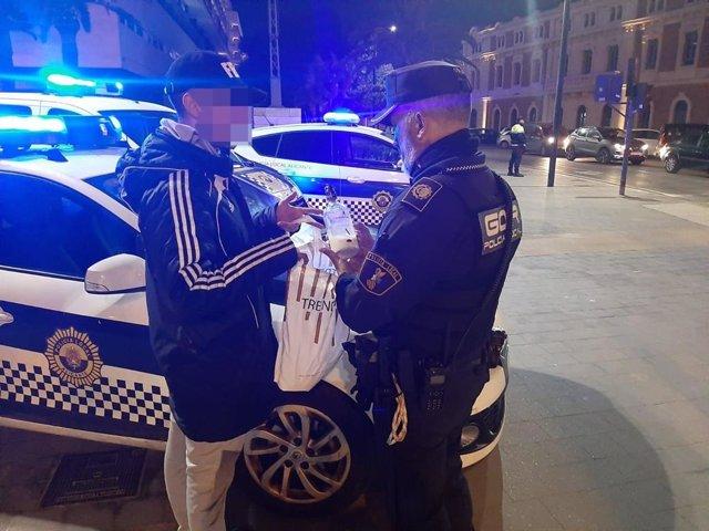 Intervenciones de la Policía Local de Alicante durante Carnaval