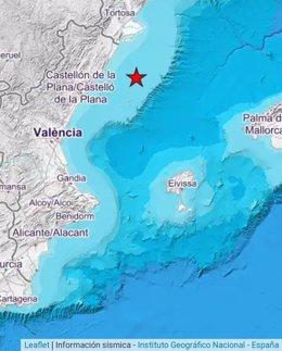 Seísmo en el golfo de Valencia