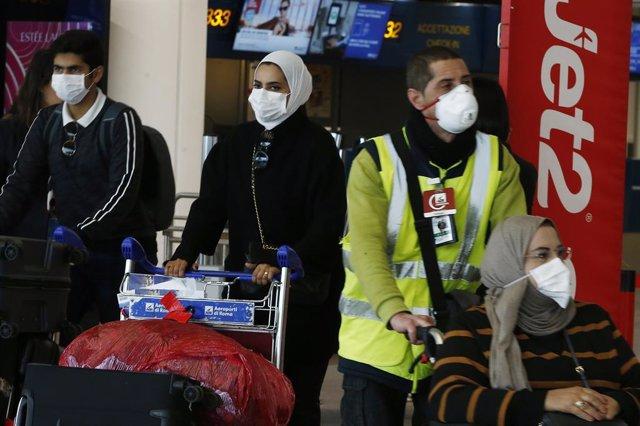 Coronavirus a l'aeroport italià de Fiumicino