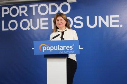Espinosa (PP) anima al Parlamento a reclamar al Gobierno de Sánchez la bajada del IRPF a los agricultores de Almería