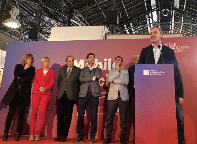 El primer teniente de alcalde de Barcelona, Jaume Collboni, en el Mobile Networking Lunch