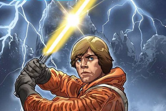 Luke Skywalker en un comic de Star Wars