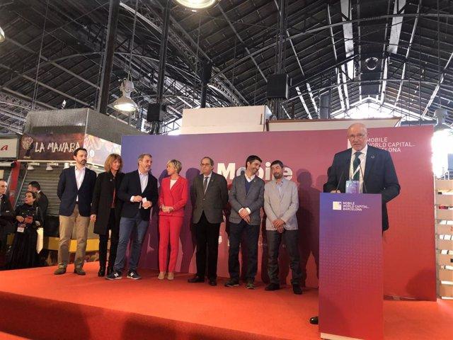 El consejero delegado de la Mobile World Capital Barcelona (MWCapital), Carlos Grau, en el Mobile Networking Lunch