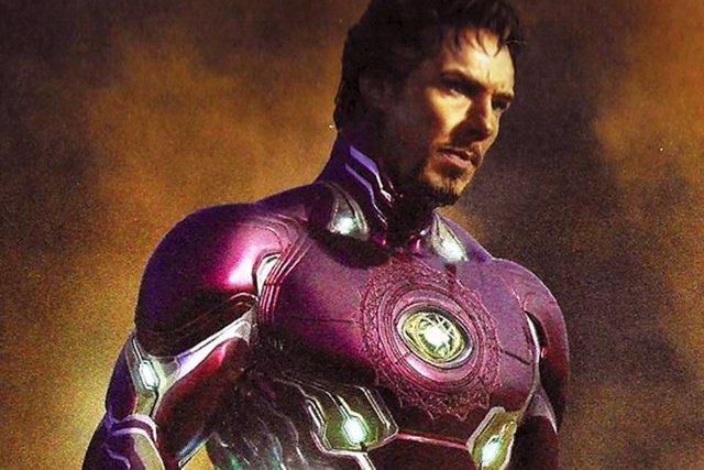 Doctor Strange con la armadura de Iron Man en Vengadores: Infinity War