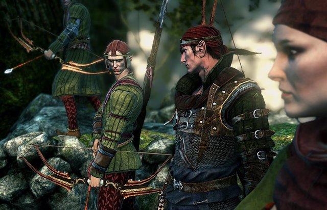 Ejercito de elfos en el videojuego de The Witcher