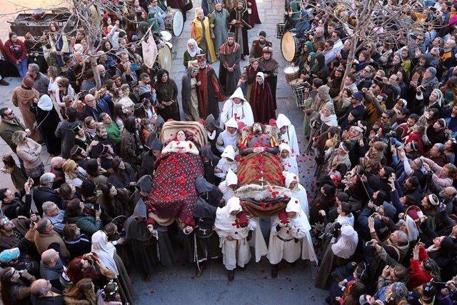 Celebración de Las Bodas de Isabel en la recreación medieval de la leyenda de Los Amantes de Teruel, en Teruel a 23 de febrero de 2020.
