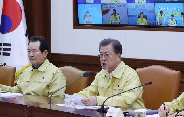 El presidente surcoreano, Moon Jae In