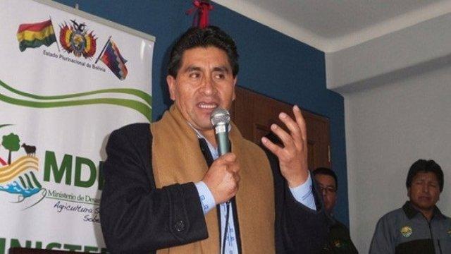 El exministro de Desarrollo Rural y Tierras de Bolivia César Cocarico (2015-2019)