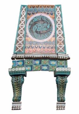 Chimenea; serie orientalizante, España, finales del siglo XIX -