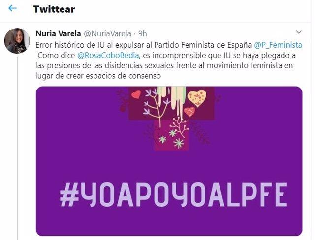 Tuit de Nuria Varela