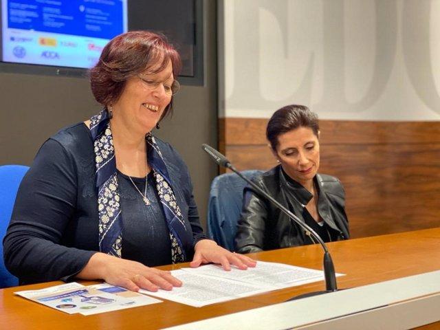 Ángeles Gómez Borrago Y Yolanda Vidal.