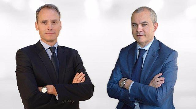Alex Fusté , director de inversiones de Andbank España y miembro del consejo de administración de la gestora española, y Juan Luis García Alejo como director de Global Asset Management y director general de Andbank Wealth Management España, a la derecha.