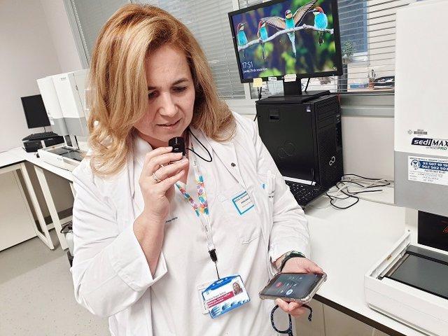 La presidenta de la Asociación Española contra la Meningitis, Cristina Regojo