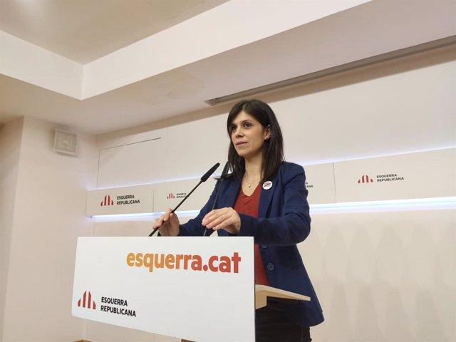 La secretria general adjunta i portaveu d'ERC, Marta Vilalta