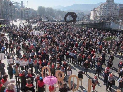 Pensionistas vascos se concentrarán en abril o mayo ante el Congreso de los Diputados