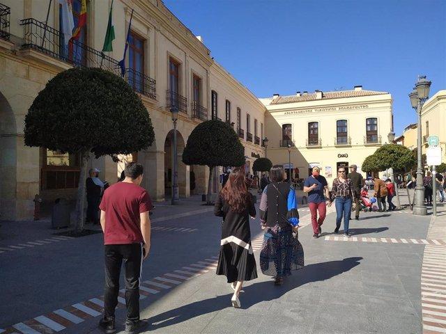 Turistas en Ronda (Málaga)