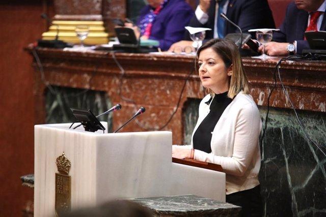 La diputada regional del PP, Mª Dolores Valcárcel