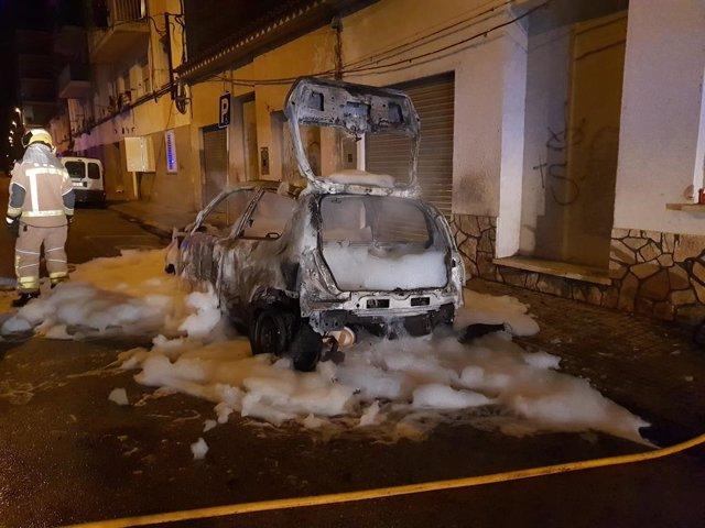 El cotxe cremat del regidor de Vox a Salt, Sergi Fabri.