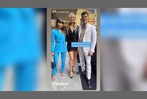 Chiara Ferragni posa con Aitana y Miguel Bernardeau en Milán
