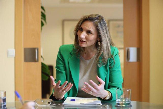 La consejera de Medio Ambiente de la Comunidad de Madrid, Paloma Martín, durante una entrevista con Europa Press